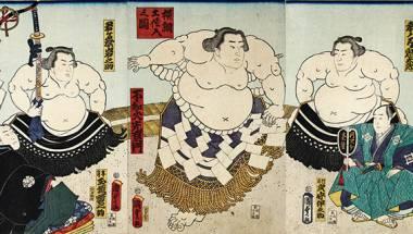 Sumo in Ukiyo-e