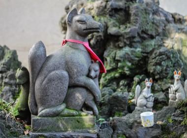 A fox at Shitaya Shrine