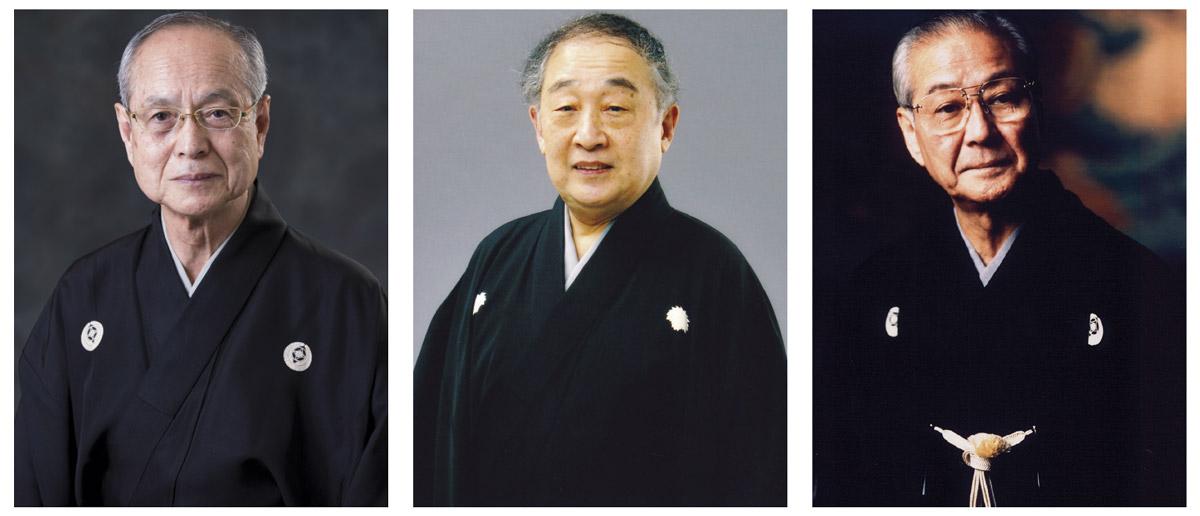 From left to right: Mansaku Nomura, Tojiro Yamamoto and Man Nomura