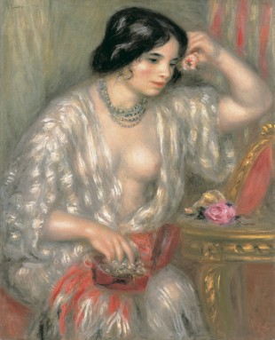 Gabrielle with Jewels, c. 1908-10, Pierre-Auguste Renoir