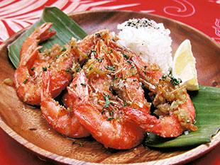 Aloha's garlic shrimp