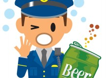 Cop caught with beer
