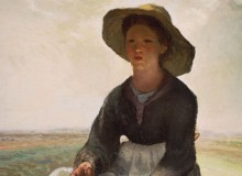 The Young Shepherdess, 1870-73, Jean-François Millet