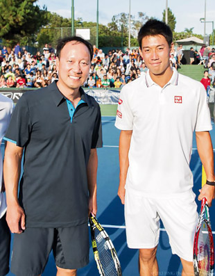 Chang with Kei Nishikori