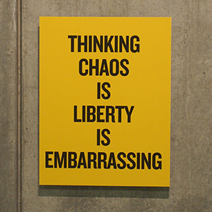 No chaos in liberty