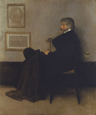 <em>Arrangement in Grey and Black, No.2: Portrait of Thomas Carlyle</em>, 1872-73