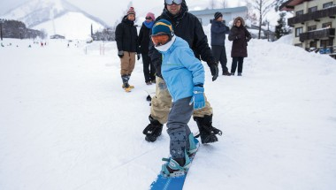 First-time snowboard