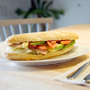 Sandwiches made with rice flour bread