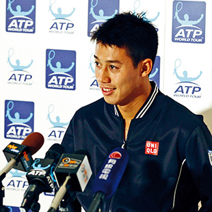 Nishikori shines at ATP World Tour
