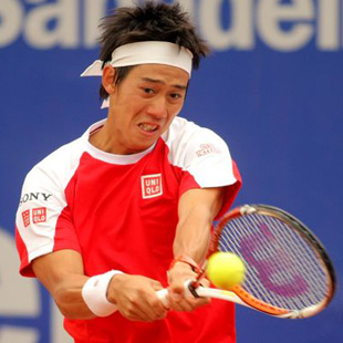 Nishikori at Conde de Godo in Barcelona, 2011