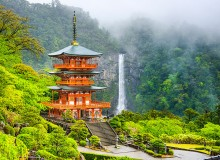 Pagoda of Seigantoji Temple and Nachi Waterfall