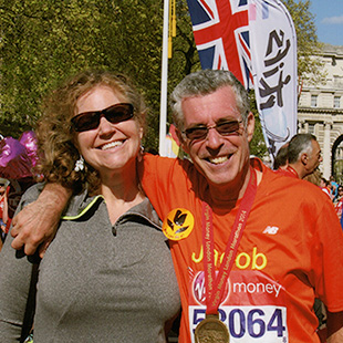 Sternfeld and his wife at the London Marathon