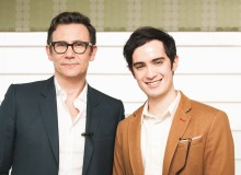 Michel Hazanavicius (left) with Fox Backstage Pass host Matthew Ireton (right)
