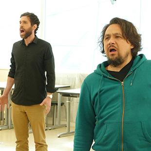 Sal Randazzo (Dr. Craven) and David Mashiko (Archibald Craven) rehearse