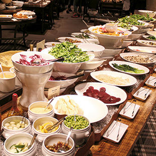 The salad bar at Barbacoa