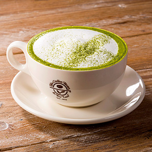Coffeee Bean's green tea cappuccino