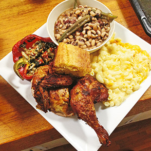 Fried chicken, mac and cheese ... all the fixings