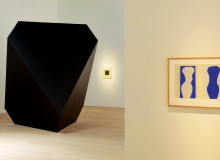 "Exhibit displaying anti by Carsten Nicolai (2004) (left), and ""Forms from"" by Henri Matisse (1947) (right)"
