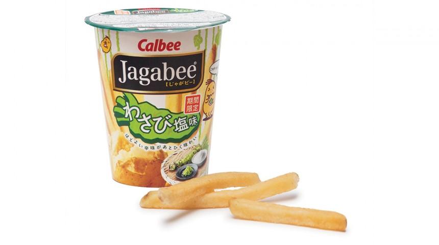 Calbee's Wasabi-Shio Jagabee