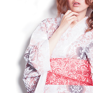 """Unicorn victory"" yukata in pink"