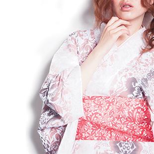 """Unicorn victory"" yukata in pink"
