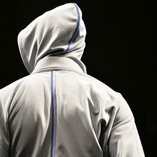 Jotaro Saito's yukata and hoodie hybrid