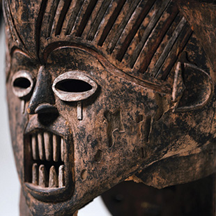 Janus mask from either the Ibo or Igala tribe (undated)