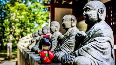 Mt Takao Jizo Statues