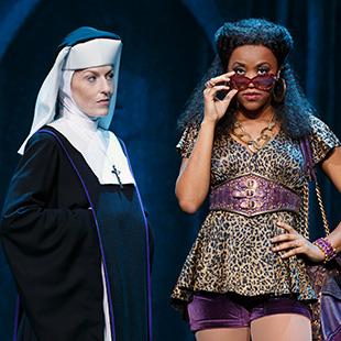 Maggie Clennon Reberg (Mother Superior, left) and Kerissa Arington (Dolores, left) in 2007 US tour