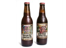 Suruga Beer Imperial IPA and Red Rose Amber Ale from Baird Brewing Company