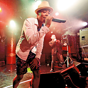 Sonny B performing