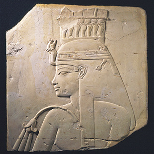 <em>Relief of Queen Tiye, wife of Amenhotep III</em>, New Kingdom, 18th dynasty, reign of Amenhotep III, 1,388-1,350 B.C.
