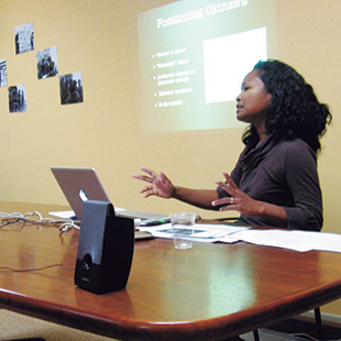 Uehara Carter giving a presentation