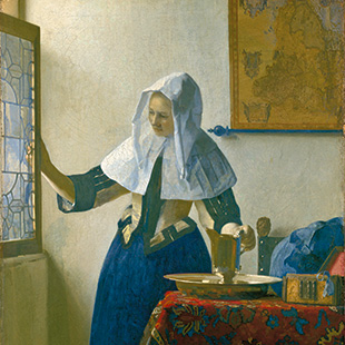 """Johannes Vermeer, """"Young Woman with a Water Pitcher"""", ca. 1662"""