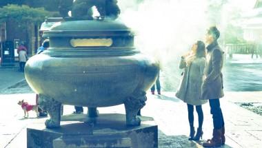 Smoke on Zenkoji