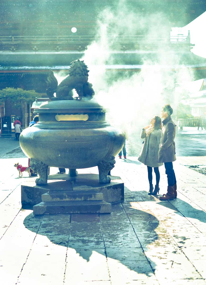 Smoke on Zenkoji