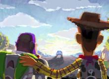 Robert Kondo, layout by Jason Katz and John Sanford. Beat Board: Goodbye Andy. Toy Story 3. 2010. Digital painting. ©Disney/Pixar