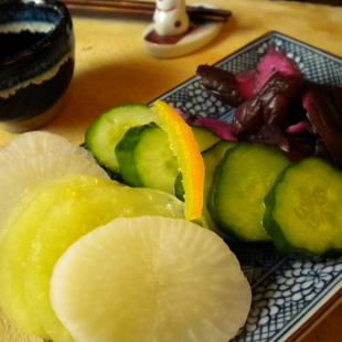 Takuan, asazkuke, and shibazuke (photo by Joan Bailey)