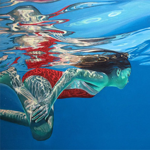 """Swimmer Dissolving"" (2016) by Brigitte Yoshiko Pruchnow, Gallery Kunimatsu Aoyama"