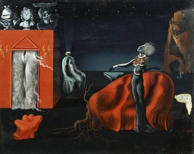 ② サルバドール・ダリ 《奇妙なものたち》 1935年頃、40.5×50.0 cm、板に油彩、コラージュ、ガラ=サルバドール・ダリ財団蔵 Collection of the Fundació Gala-Salvador Dalí, Figueres © Salvador Dalí, Fundació Gala-Salvador Dalí, JASPAR, Japan, 2016.
