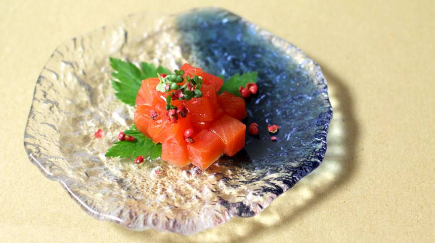 Sake-Cured Salmon