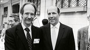 John Gomez with former US Ambassador to Japan John Roos. Photo courtesy of John Gomez.