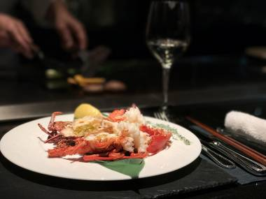 Yamanami, Keio Plaza Hotel Tokyo - Grilled Lobster - Review by Mandy Lynn, Gourmet Adventures