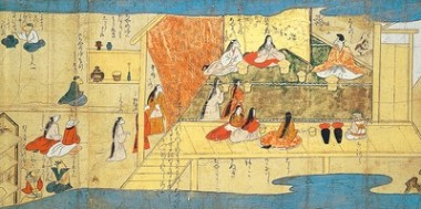 Women with Insomnia from The Scroll of Diseases and Deformities, fragment. Part of the Suntory Museum of Art Collection