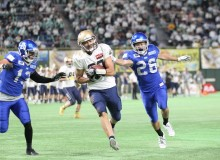 X-League. Obic Seagulls Wide Receiver Tarou Mizuno was chosen as MVP of the X-League 2017 Pearl Bowl