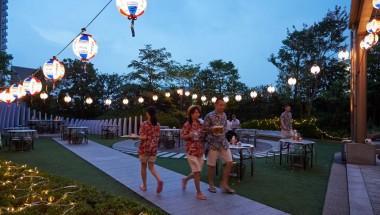 Showa Era Beer Garden at the Grand Hyatt