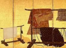 """Kimono on Hanging Racks"" Photo from the Suntory Museum of Art website"