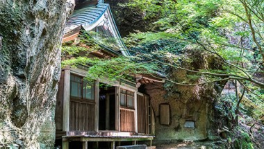 Sento-ji's Oku-no-In is set in volcanic rock along a forest trail