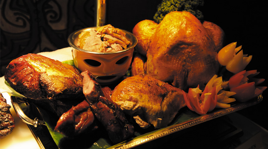 Trader Vic's Thanksgiving feast