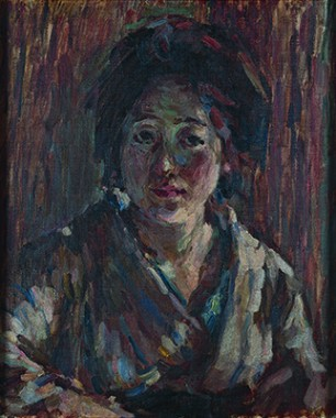 Portrait of a Lady, 1918. Oil on canvas. Kumagai Morikazu Museum of Art